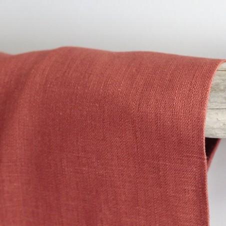 Tissu Ramie - rouille
