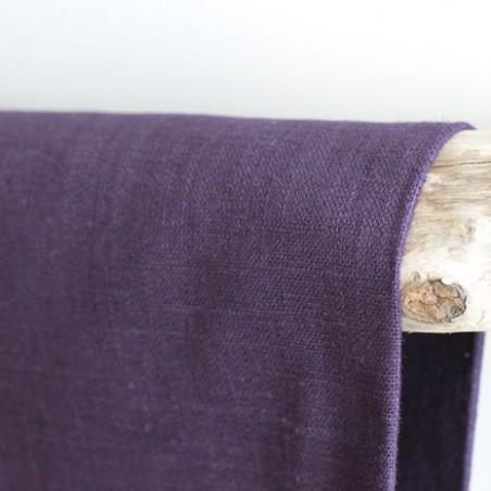 Tissu Ramie - aubergine