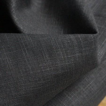 Tissu Ramie - noir