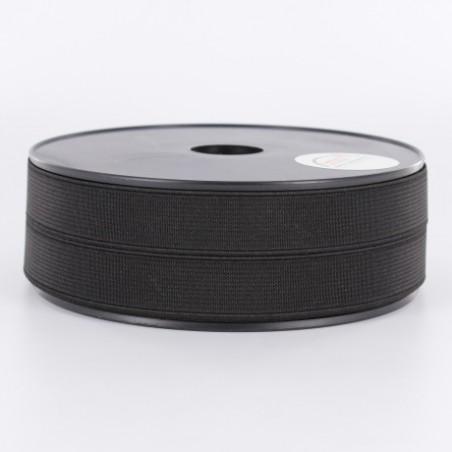 Elastique noir côtelé 20mm
