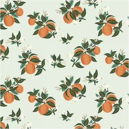 Cotton citrus blossom orange metallic - Rifle paper Co