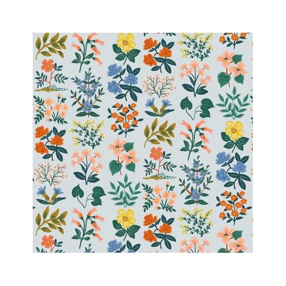 Viscose wildflower field sky lawn - Rifle paper Co