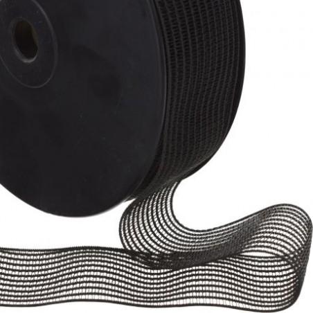 Elastique fronceur noir 40mm