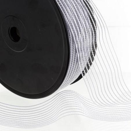 Elastique fronceur blanc 40mm