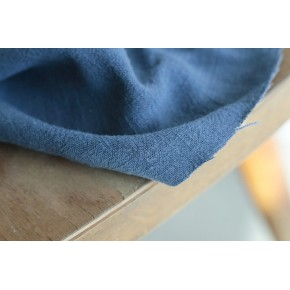 tissu lin et viscose bleu