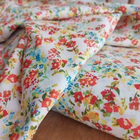 coton fleurs champêtres