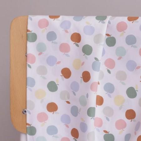 Popeline coton bio - Apples terra