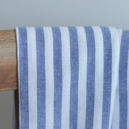 Coton rayures - bleu