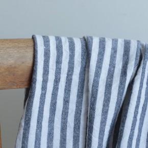 Coton rayures - noir