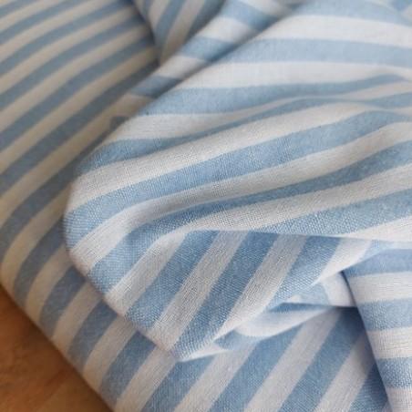 coton rayures bleu