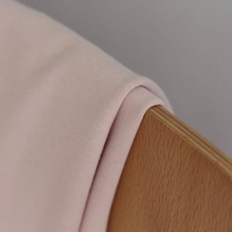 Tissu sweat fin bio - rose tendre