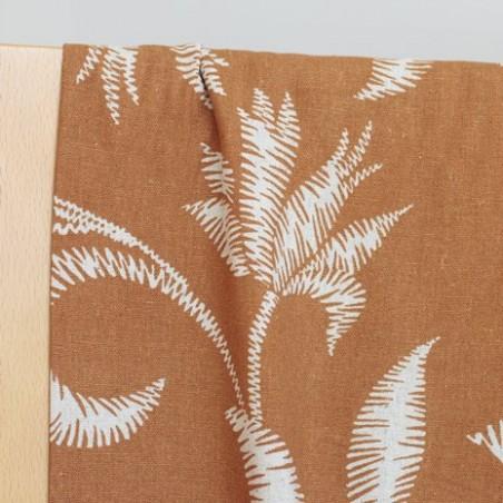 Lin et Viscose - palmiers ocre