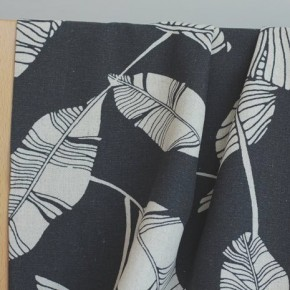 Lin et Viscose - bananiers anthracite