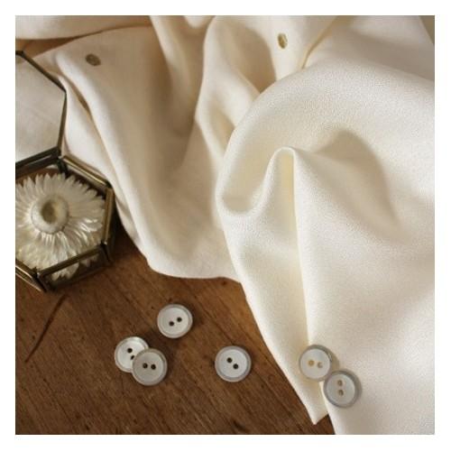 Crêpe de viscose Atelier Brunette - Off White