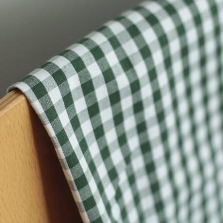 coton vichy vert et blanc