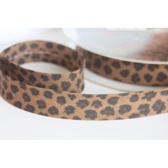 Biais léopard chocolat
