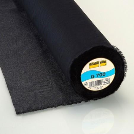 Entoilage tissé coton thermo G700 VLIESELINE noir
