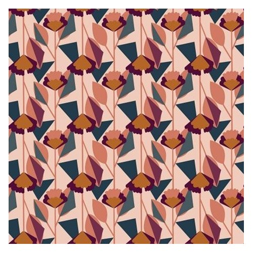 Coton Florence Light Pink Fabric - Cotton And Steel