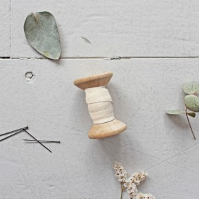 Biais dobby off white - Atelier Brunette