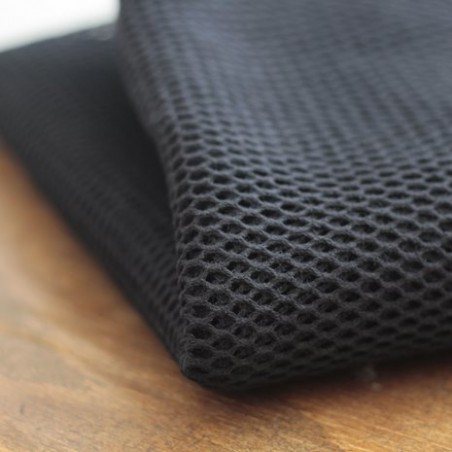 Tissu filet en coton bio - noir