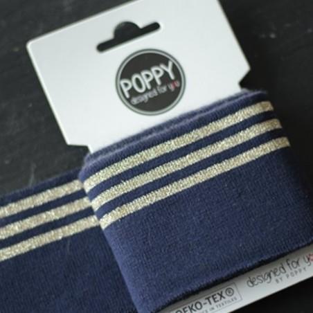Bord-côte Poppy - marine rayures lurex