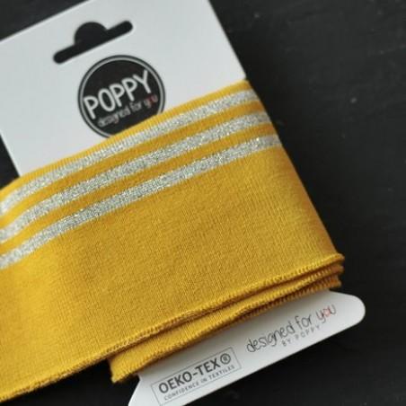 Bord-côte Poppy - moutarde rayures lurex
