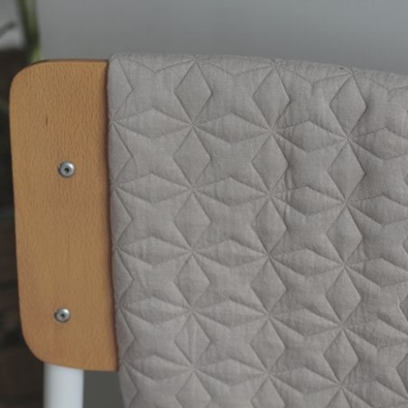 tissu jersey matelassé beige - malte