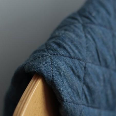 tissu matelassé en jean