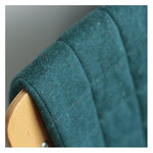 Coton matelassé vert chiné