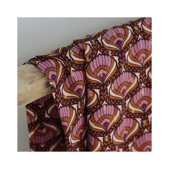 Tissu viscose Lucienne - violet
