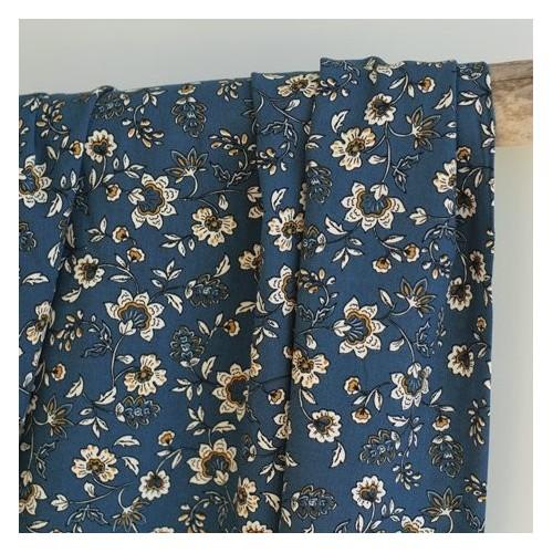 Tissu viscose India - bleu