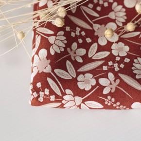 Tissu viscose - Fleurs Indiennes sienne