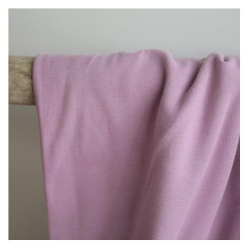 Tissu sweat molleton bio - Lilas