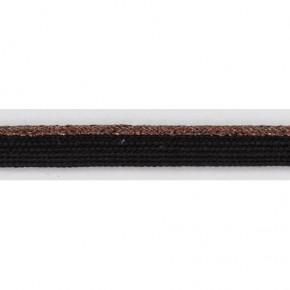 Passepoil noir/lurex cuivré