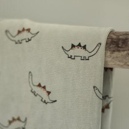 Velours pyjama dinosaures - gris