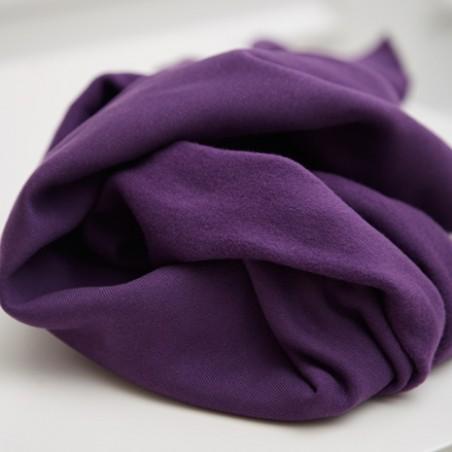 tissu sweat bio - plum - Mind the maker