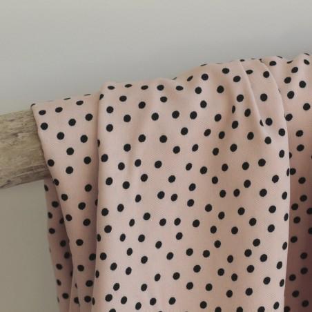 Tissu twill de viscose - small dots nude