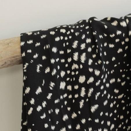 Tissu twill de viscose - stains black