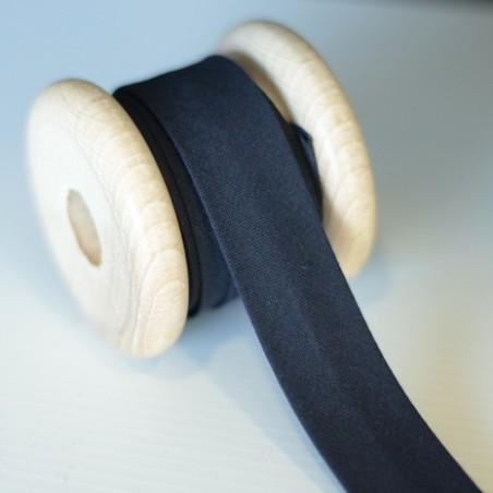 Biais 20 mm coton bio - marine
