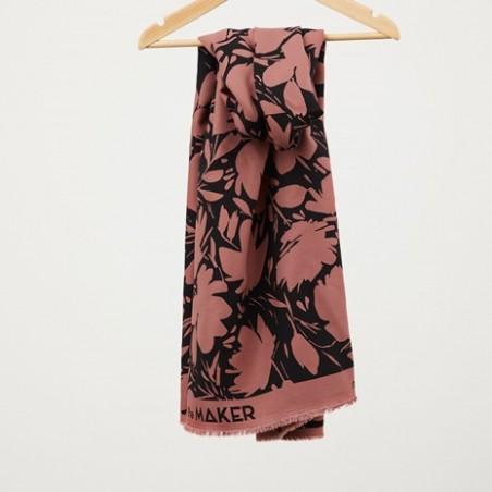 Tissu Crêpe FLORAL SHADE - Rosewood