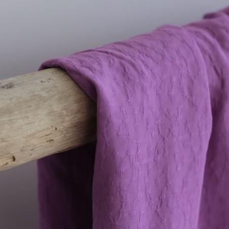 Viscose jacquard plumetis - violet