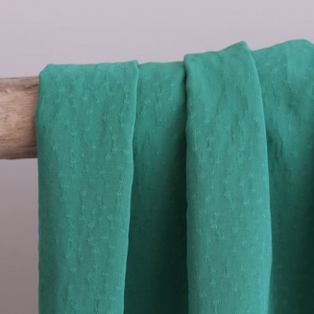 Viscose jacquard plumetis - vert prairie