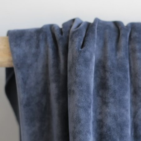 jersey velours bleu