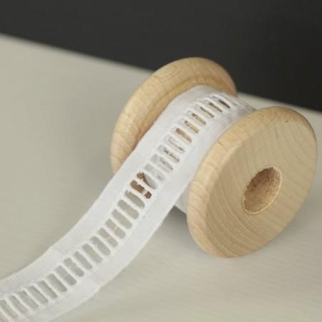 Galon Broderie jour échelle 25 mm - blanc