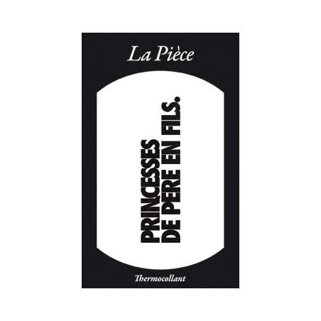Ecusson PRINCESSES DE PERE EN FILS noir