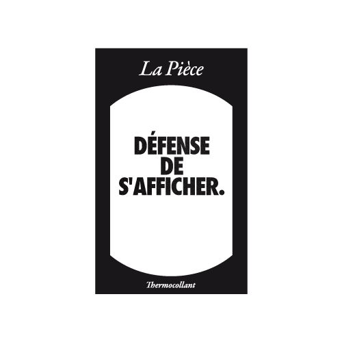 Ecusson DEFENSE DE S'AFFICHER noir