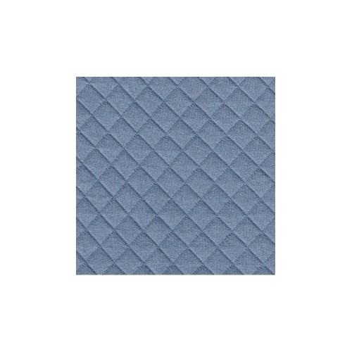 Jersey matelassé bleu
