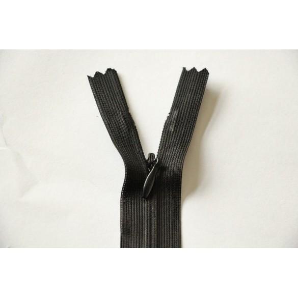fermeture glissi re invisible noir z41. Black Bedroom Furniture Sets. Home Design Ideas