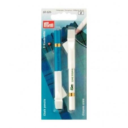 Crayon tailleur blanc/bleu
