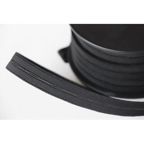 Élastique boutonnière noir